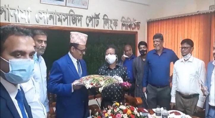 বাংলাদেশের দ্বিতীয় বৃহত্তম সোনামসজিদ স্থলবন্দর দিয়েও নেপালের সাথে ট্রানজিট কার্যক্রম শুরু হবে নেপালী রাষ্ট্রদূত