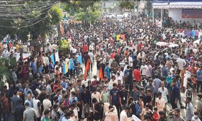 মন্দিরে হামলার প্রতিবাদে চট্টগ্রাম গণঅনশনে জনস্রোত
