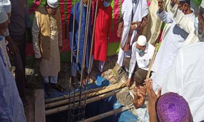 বোদায় মসজিদের ৩ তলা ভবন নির্মানের ভিত্তিপ্রস্তর উদ্বোধন