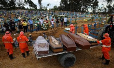 ব্রাজিলে ভয়াবহ করোনা পরিস্থিতি: দিনে ২ হাজারের বেশি মৃত্যু