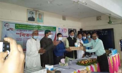 কালীগঞ্জে ৬১টি বিদ্যালয়ে আইসিটি সামগ্রী বিতরণ