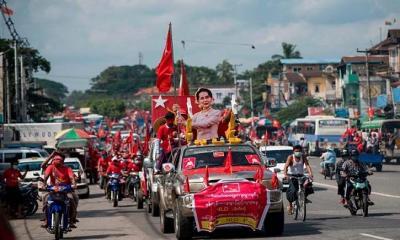 মিয়ানমারে সাধারণ নির্বাচন : জয়ের পথে সু চি'র দল