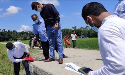 তারাকান্দার বালিখাঁ ইউনিয়নে উন্নয়নমূলক প্রকল্পের কাজ পরিদর্শন