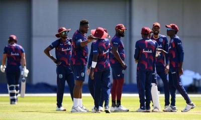 অনুশীলন শুরু করেছে ওয়েস্ট ইন্ডিজ ক্রিকেট দল