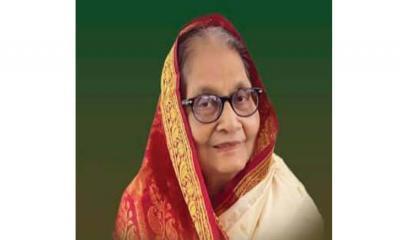 সংসদ উপনেতা সৈয়দা সাজেদা চৌধুরীর ৮৬তম জন্মদিনের শুভেচ্ছা