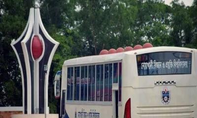 নোবিপ্রবি শিক্ষার্থীরা বিশ্ববিদ্যালয়ের বাসে বাড়ি ফিরতে চায়