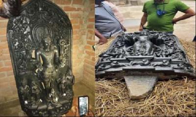 ২৫০ কেজি ওজনের কষ্টি পাথরের মূর্তি উদ্ধার
