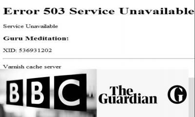 বেশকিছু আন্তর্জাতিক নিউজ ওয়েবসাইট হঠাৎ স্তব্ধ দেখাচ্ছে Error 503