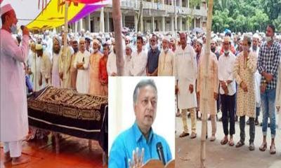 বানারীপাড়ায় চোখের জলে অধ্যক্ষ নিজাম উদ্দিনকে শেষ বিদায়