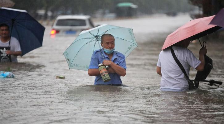চীনে হাজার বছরের মধ্যে সবচেয়ে ভারী বৃষ্টি